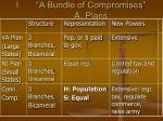 a bundle of compromises a plans