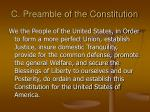 c preamble of the constitution