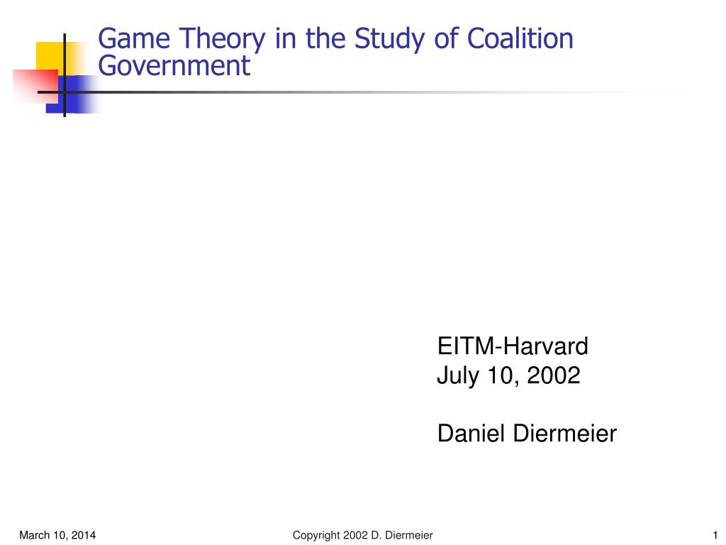 game theory in the study of coalition government l.