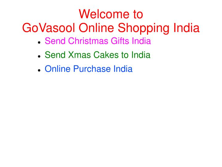 welcome to govasool online shopping india n.
