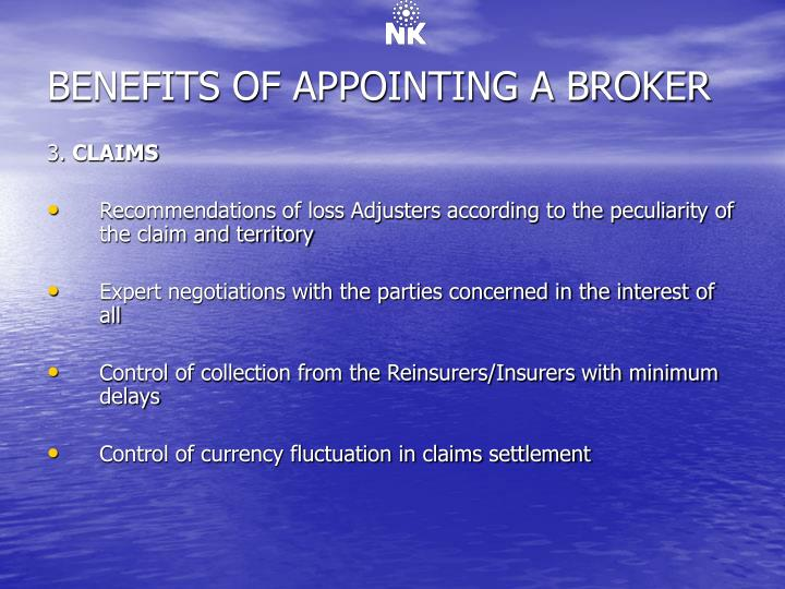 BENEFITS OF APPOINTING A BROKER