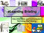 elearning briefing