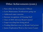 other achievements cont13