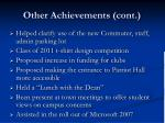 other achievements cont14