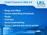 crash course in web 2 0