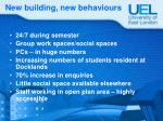 new building new behaviours