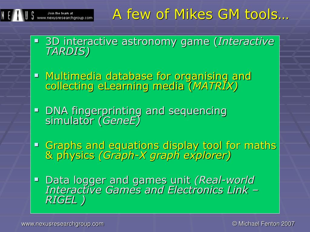 A few of Mikes GM tools…