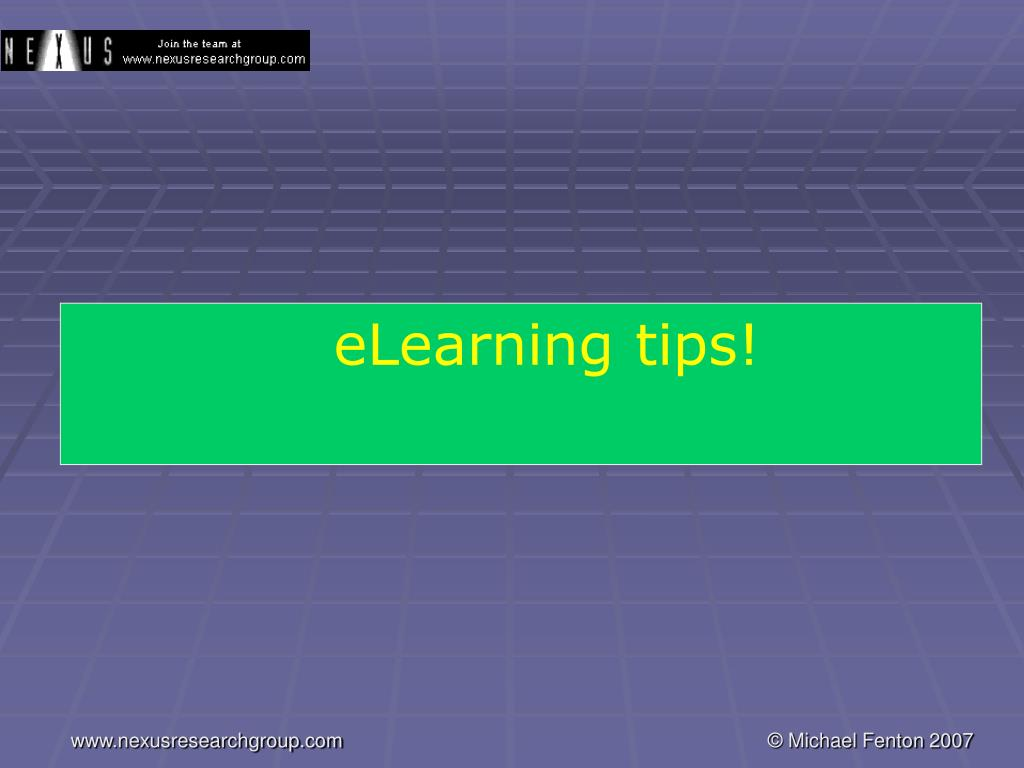 eLearning tips!