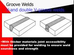 groove welds v and double v groove welds