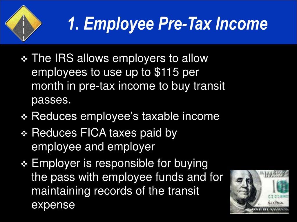 1. Employee Pre-Tax Income