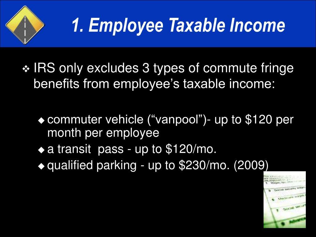 1. Employee Taxable Income