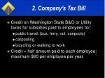 2 company s tax bill