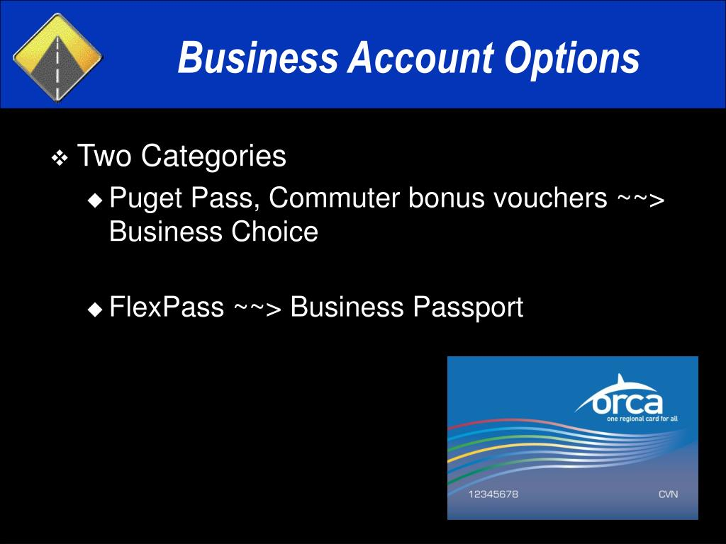 Business Account Options