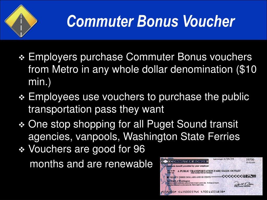 Commuter Bonus Voucher