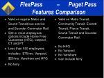 flexpass puget pass features comparison