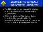 qualified bicycle commuting reimbursement new in 200920