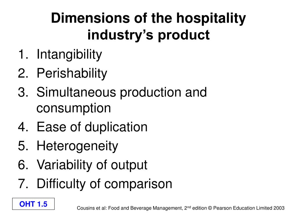Dimensions of the hospitality