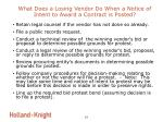 what does a losing vendor do when a notice of intent to award a contract is posted