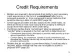 credit requirements14
