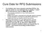 cure date for rfq submissions