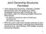 joint ownership structures permitted
