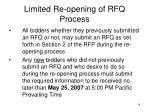 limited re opening of rfq process