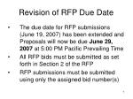 revision of rfp due date