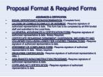 proposal format required forms28