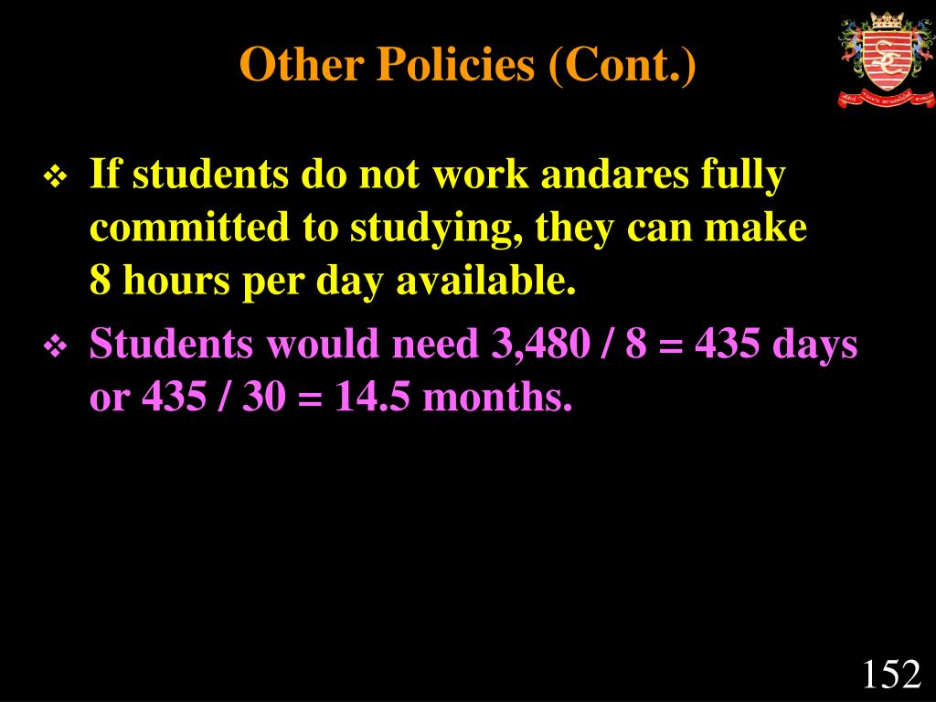Other Policies (Cont.)