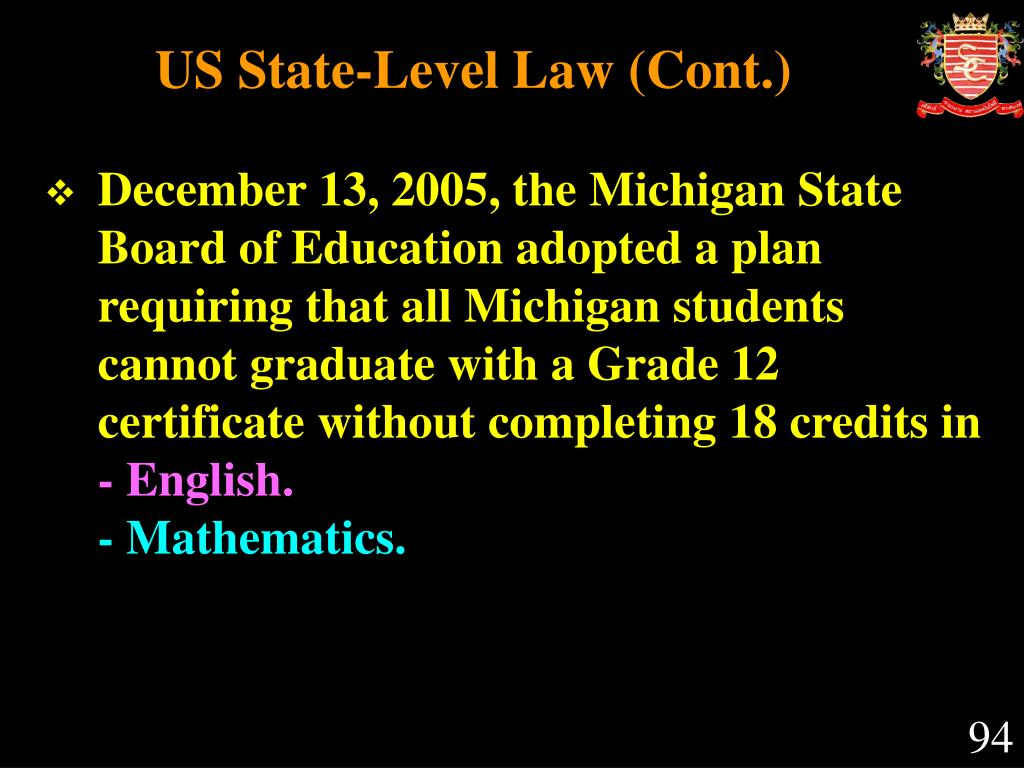 US State-Level Law (Cont.)