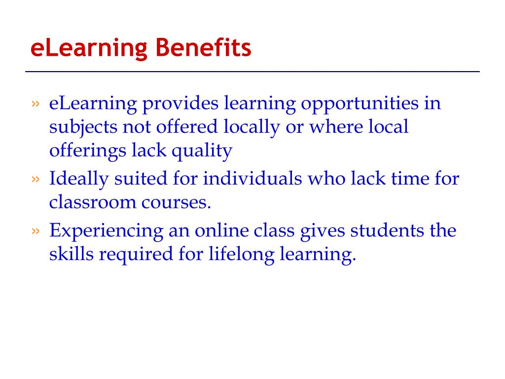 eLearning Benefits