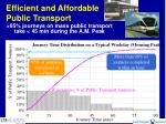 efficient and affordable public transport