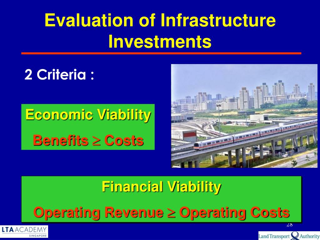 Evaluation of Infrastructure Investments