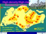 high density high rise residential towns