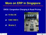 more on erp in singapore