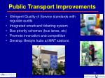 public transport improvements