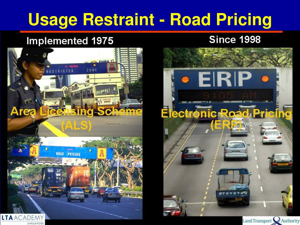 Usage Restraint - Road Pricing