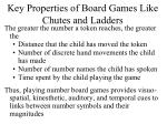 key properties of board games like chutes and ladders
