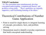 theoretical contributions of number game application