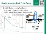 key parameters peak pulse power7