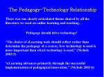 the pedagogy technology relationship