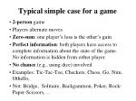 typical simple case for a game