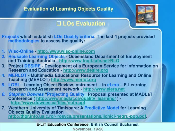LOs Evaluation
