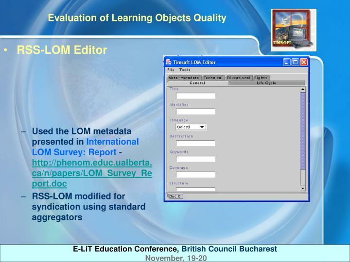 RSS-LOM Editor