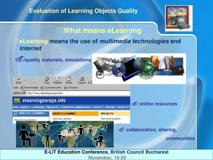 What means eLearning