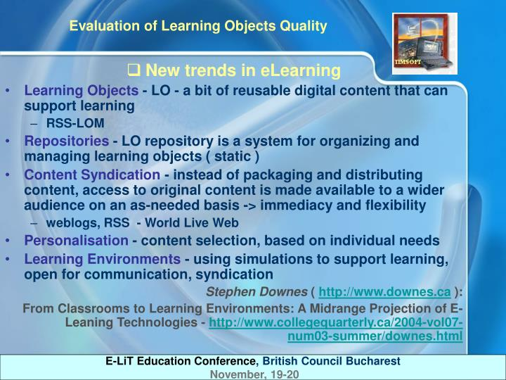 New trends in eLearning