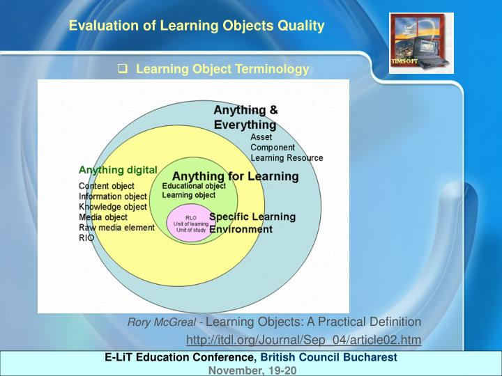 Learning Object Terminology