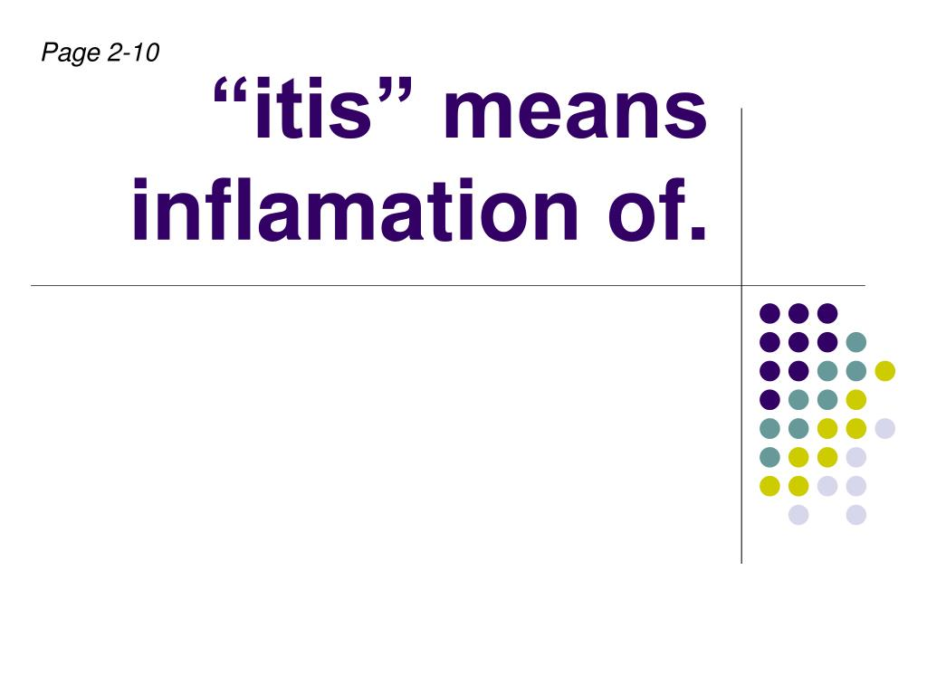 itis means inflamation of l.