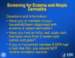 screening for eczema and atopic dermatitis