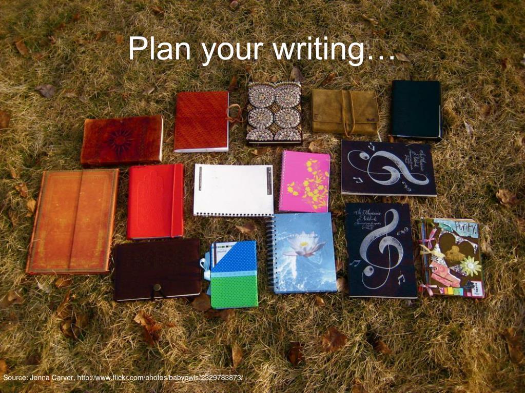 Plan your writing…